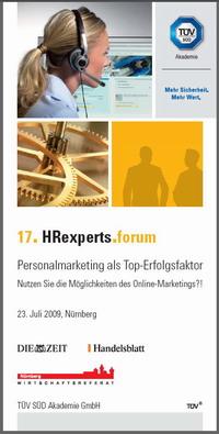17. HRexperts.forum der TÜV Süd Akademie