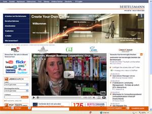 Bertelsmann Karrierewebsite