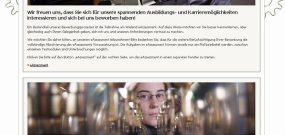 Wieland_eAssessment_Startseite