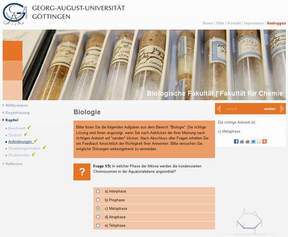 Virtuelle Studienberatung für Biochemie an der Uni Göttingen ...