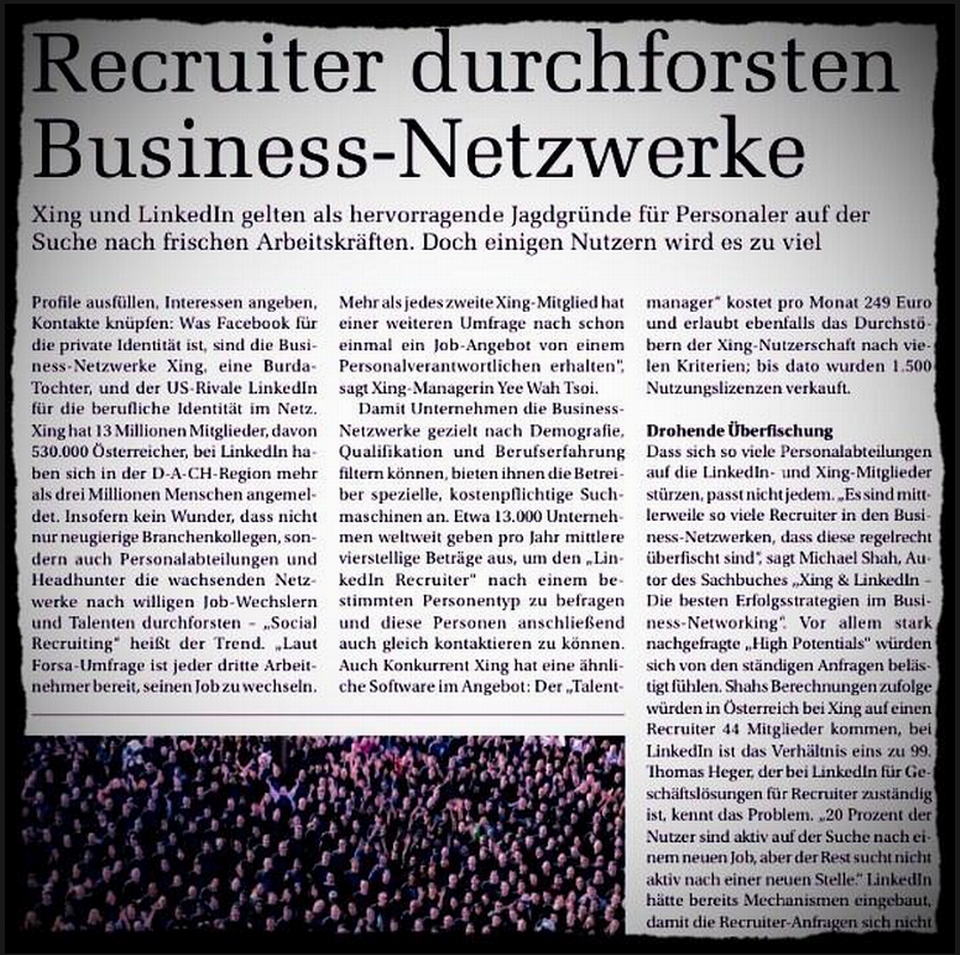 Recruiter durchforsten Business-Netzwerke