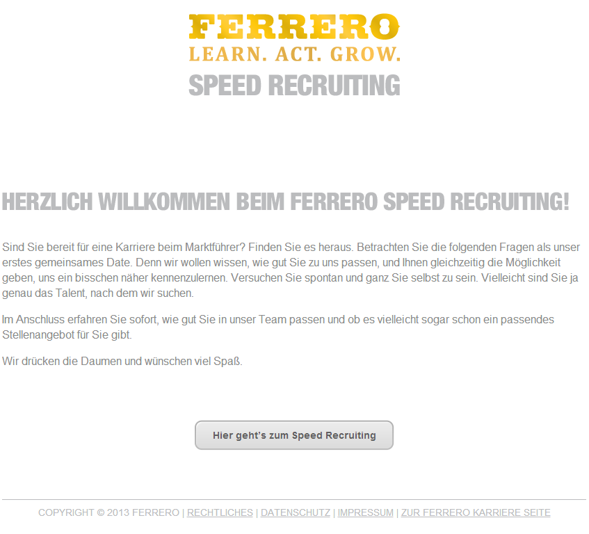 Speedrecruiting_Ferrero_Start