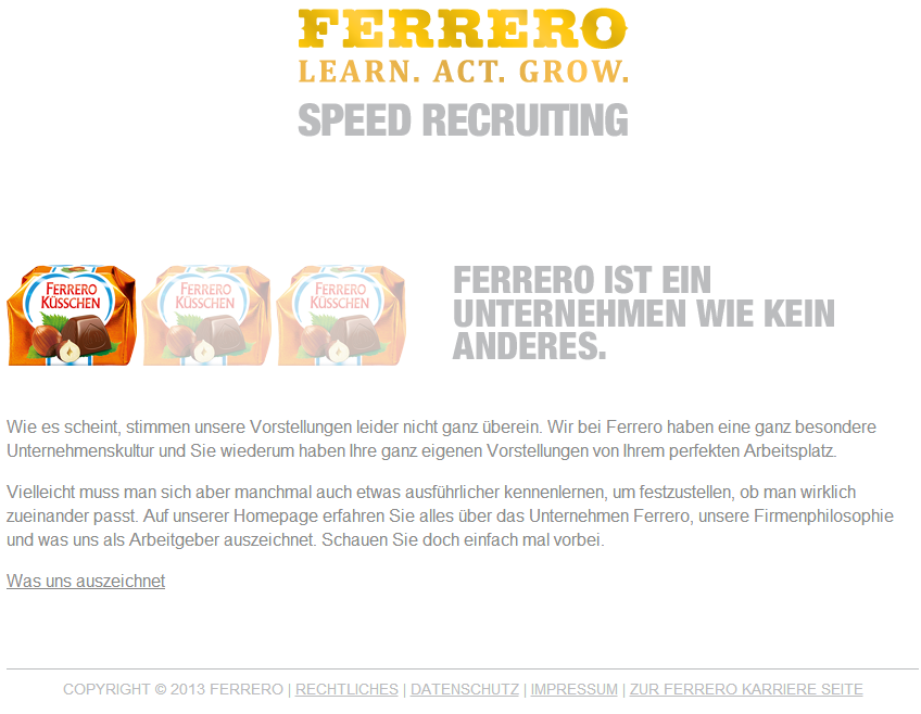Speedrecruiting_Ferrero_schlechtePassung