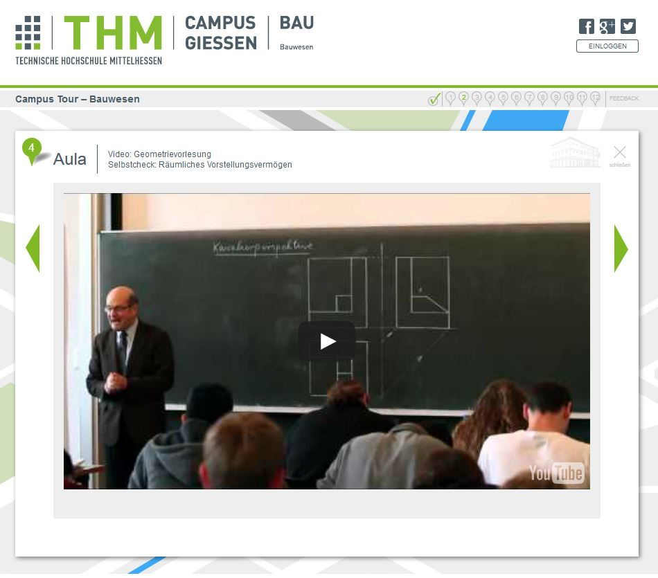 Geometrievorlesung in der THM Campus Tour