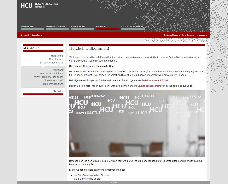 Studienorientierung Geomatik der HCU