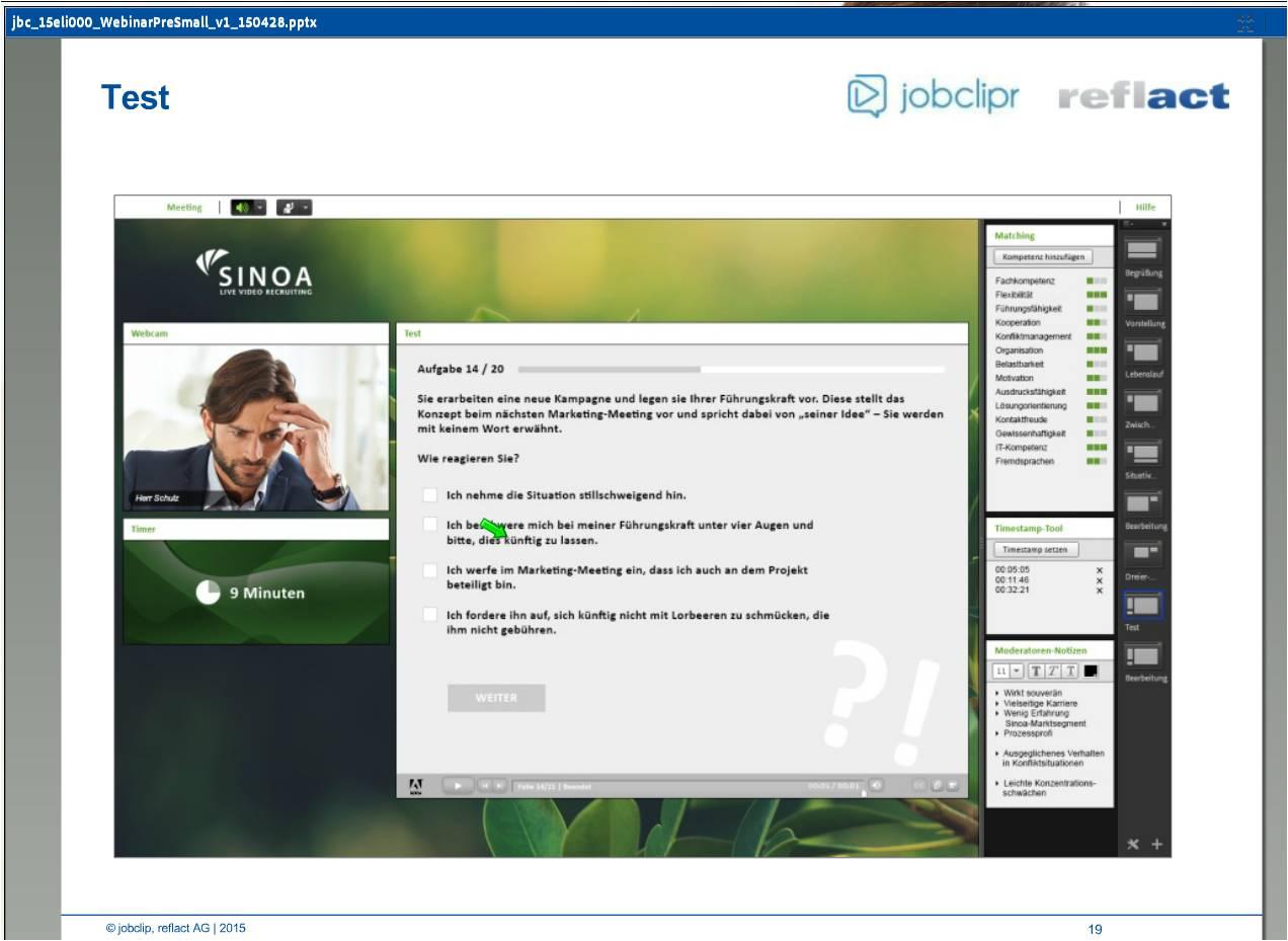 jobclipr_Live_Interview_05_Testeinbindung