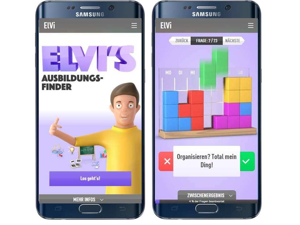 ElVi-Ausbildungsfinder_mobil_Startseite Items