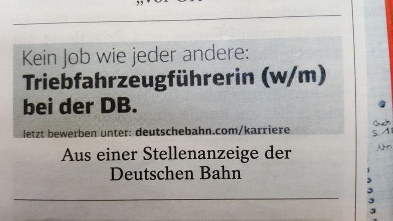 Triebfahrzeugführerin