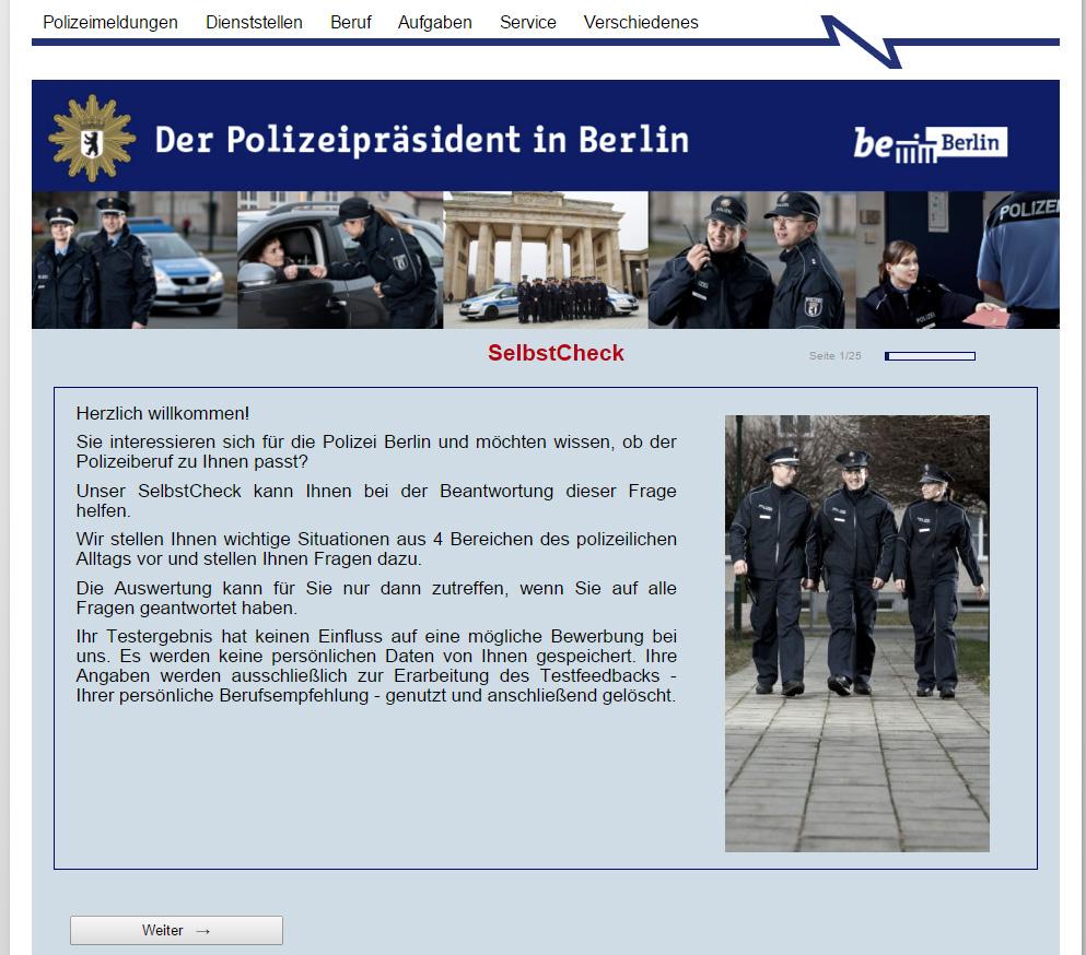 Hände Hoch Per Selbsttest Herausfinden Ob Man Zur Polizei Passt