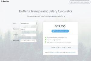 Buffer´s Transparent Salary Calculator