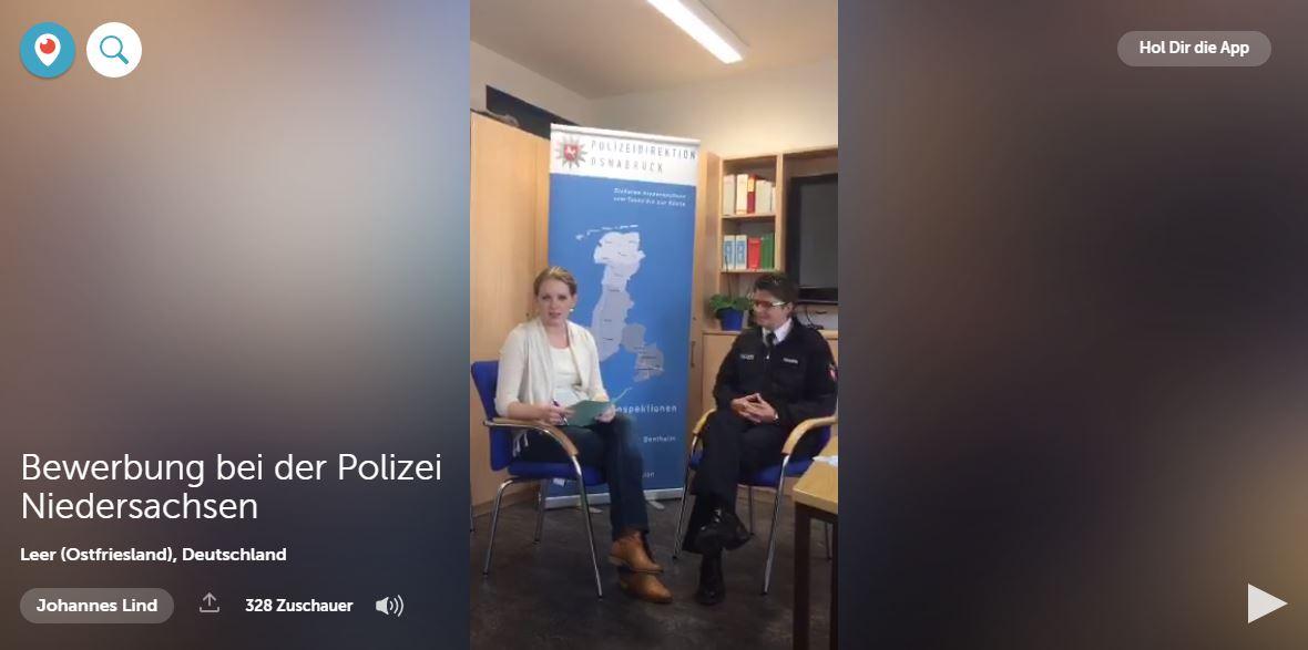 die polizei niedersachsen erklrt bewerbungsprozess ber periscope recrutainment blog - Polizei Bewerbung Niedersachsen