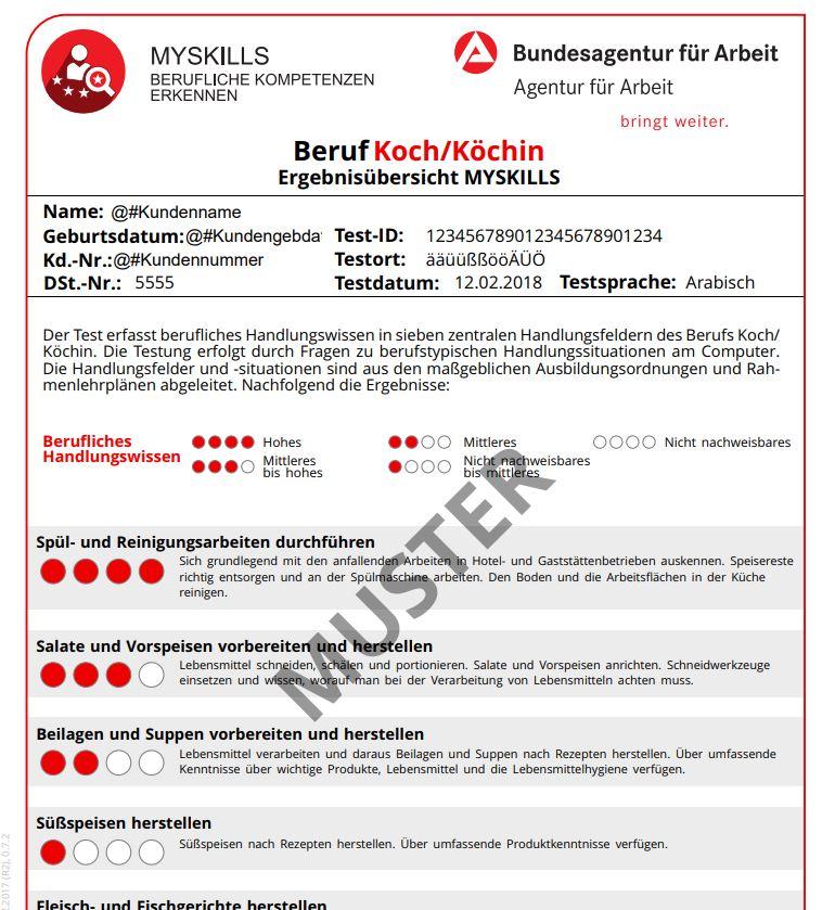 MySkills – Test zur Kompetenzmessung von Flüchtlingen (u a